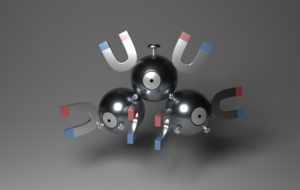 Magnemite HD Background