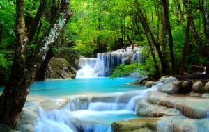 Waterfalls HD Background
