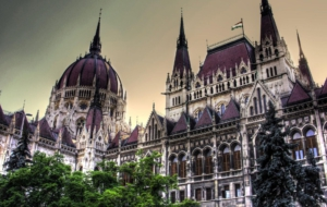 Hungarian Parliament Building HD Background