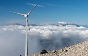 Wind Turbine For Desktop Background