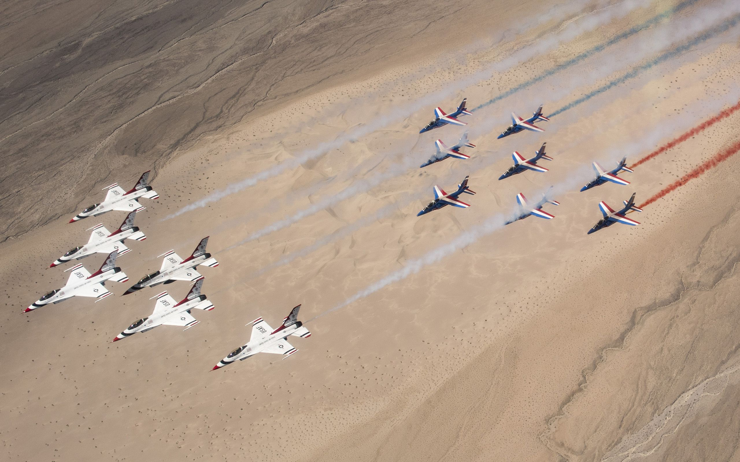 Thunderbirds Fly With Patrouille De France