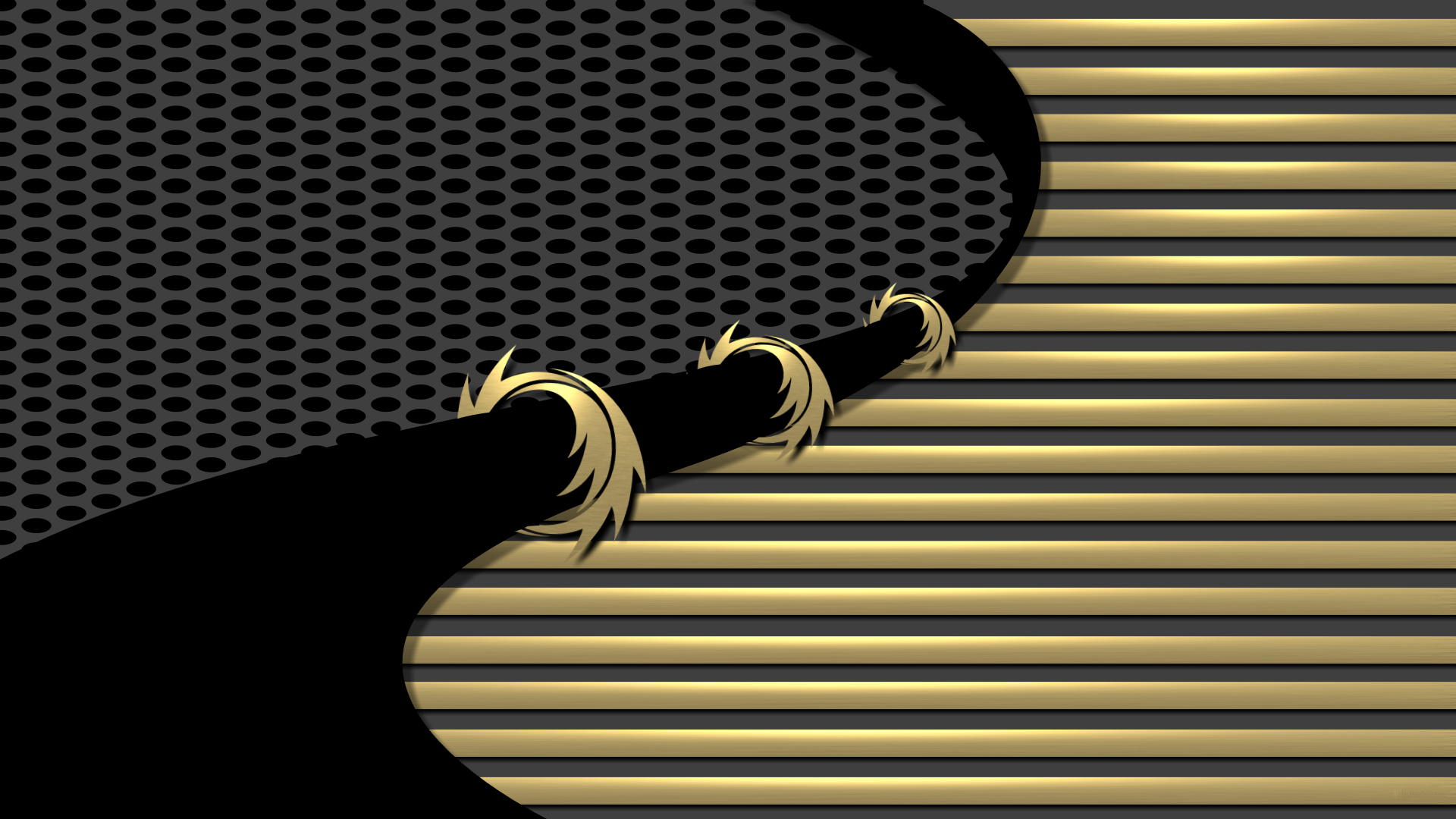Black And Gold Wallpaper Images