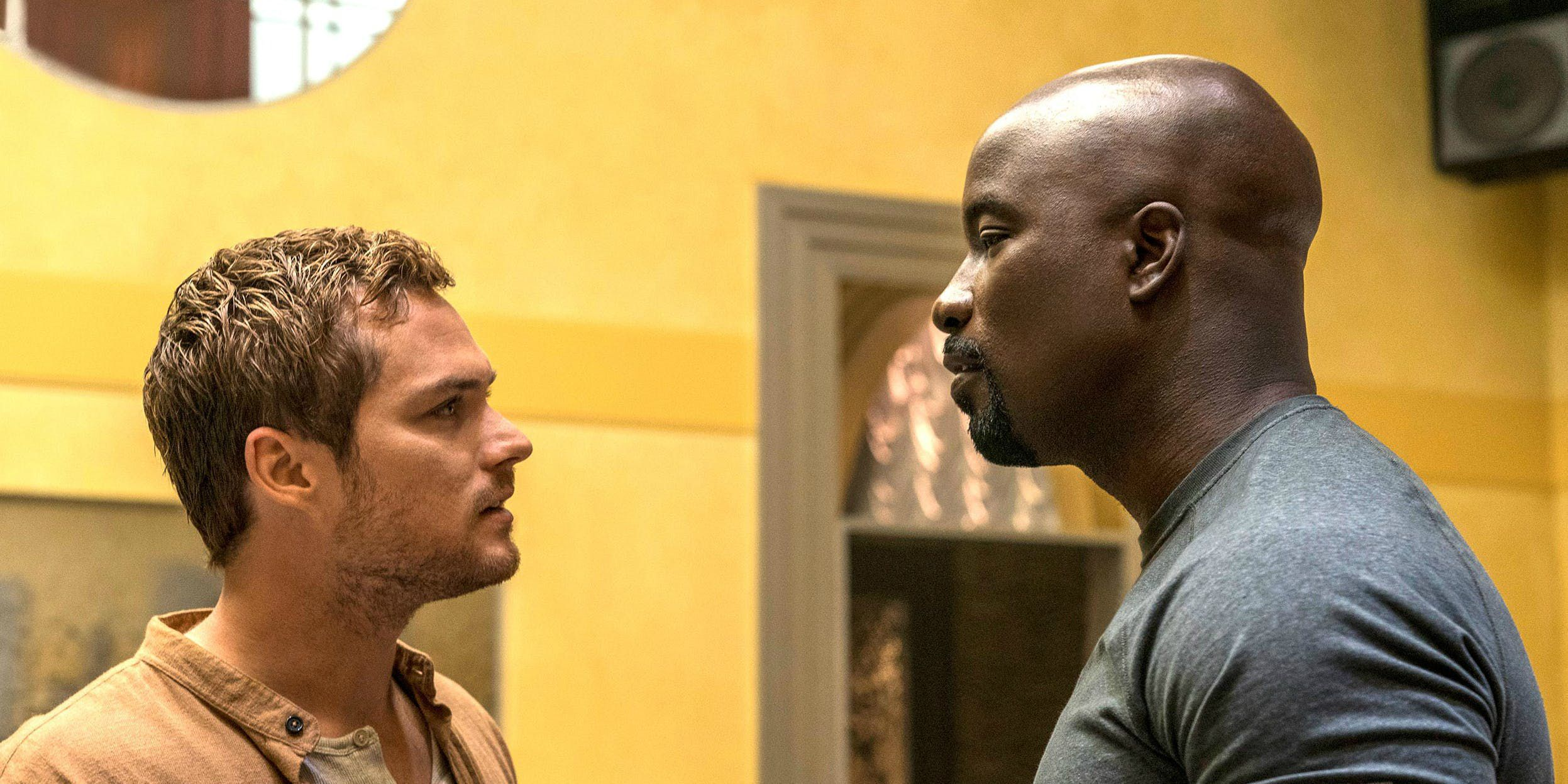 Finn Jones And Mike Colter In Luke Cage Season 2 Cropped