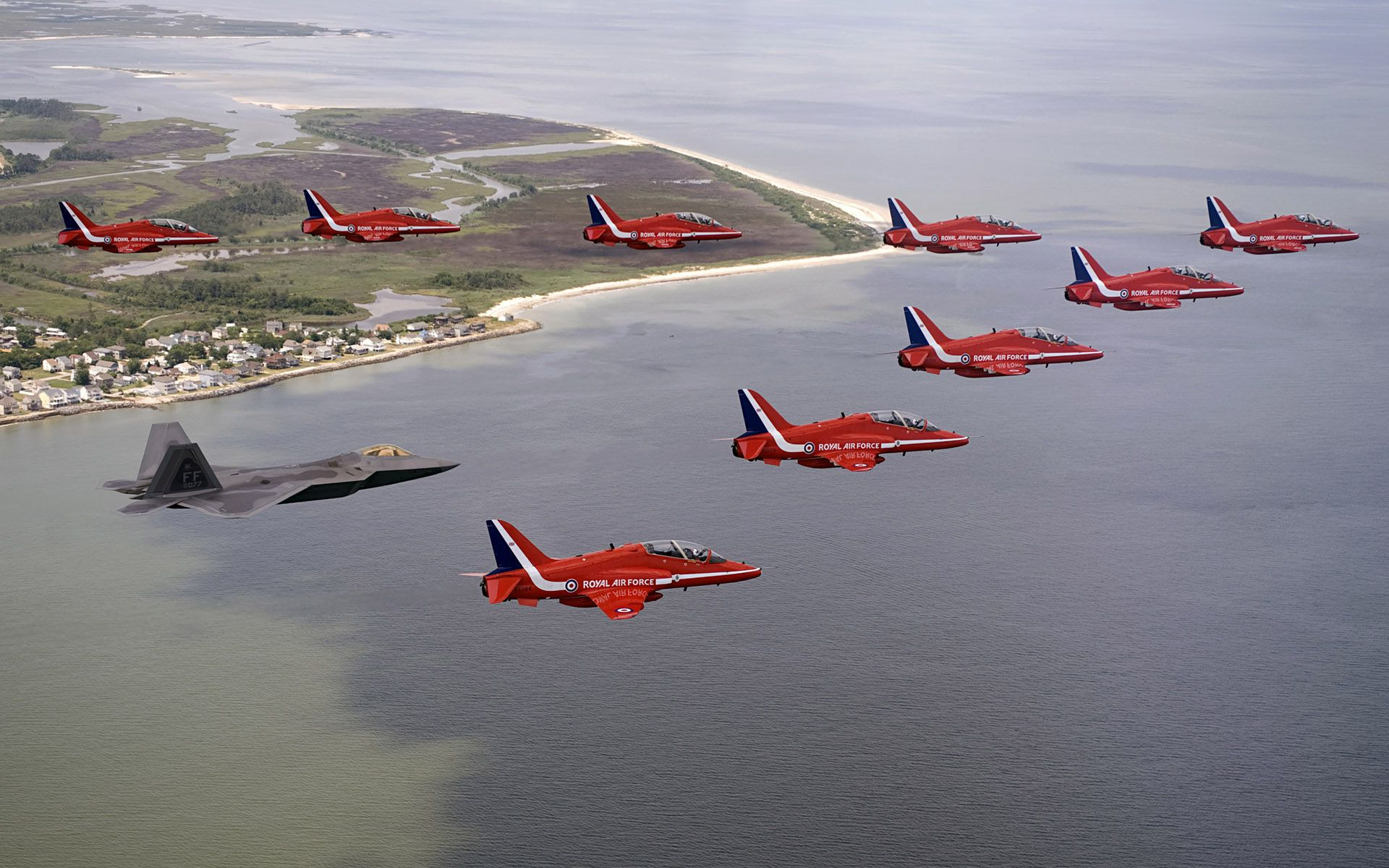 Red Arrows Meet Raptor