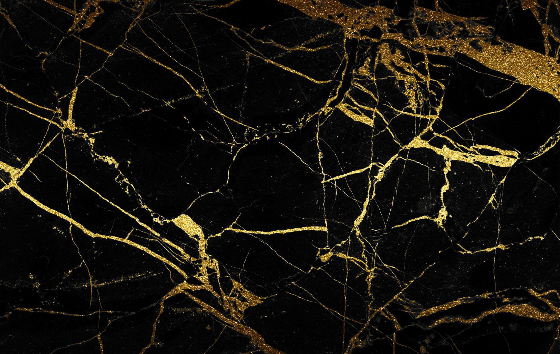 Wide Black And Gold Wallpaper