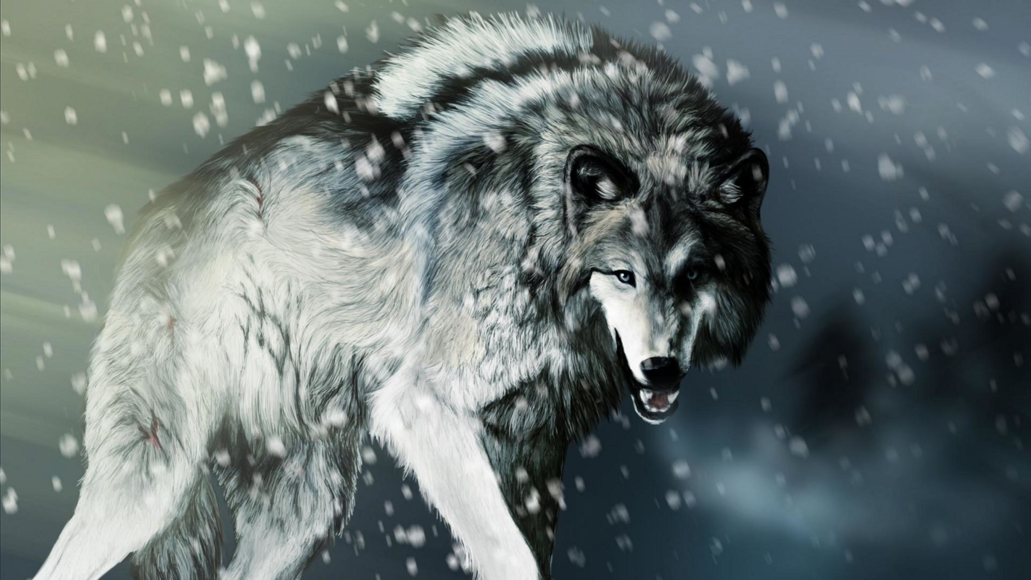 Angry Wolf In High Resolution