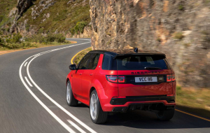 Land Rover Discovery 2020 Red 4K Wallpapers