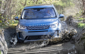 Land Rover Discovery Sport 2020 Blue 4K Wallpapers