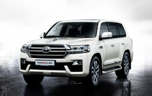 Toyota Land Cruiser 200 2020 Black Full HD Wallpapers