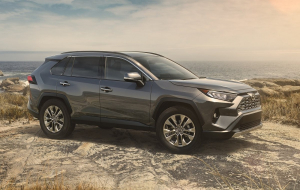 Toyota RAV4 2020 Gray Beautiful Wallpaper