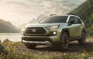 Toyota RAV4 2020 Silver Beautiful Wallpaper