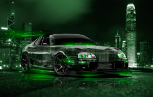 Toyota Supra 2020 Green High Resolution