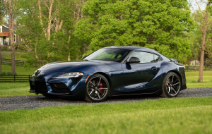 Toyota Supra 2020 Green Widescreen