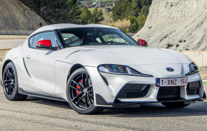 Toyota Supra 2020 Silver Beautiful Wallpaper