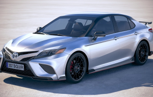 Toyota Camry 2020 Blue High Resolution